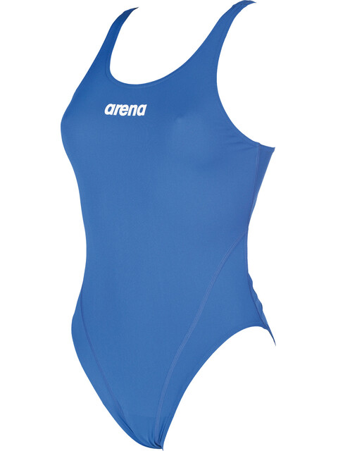 arena Solid Swim Tech High Swimsuit Women blue